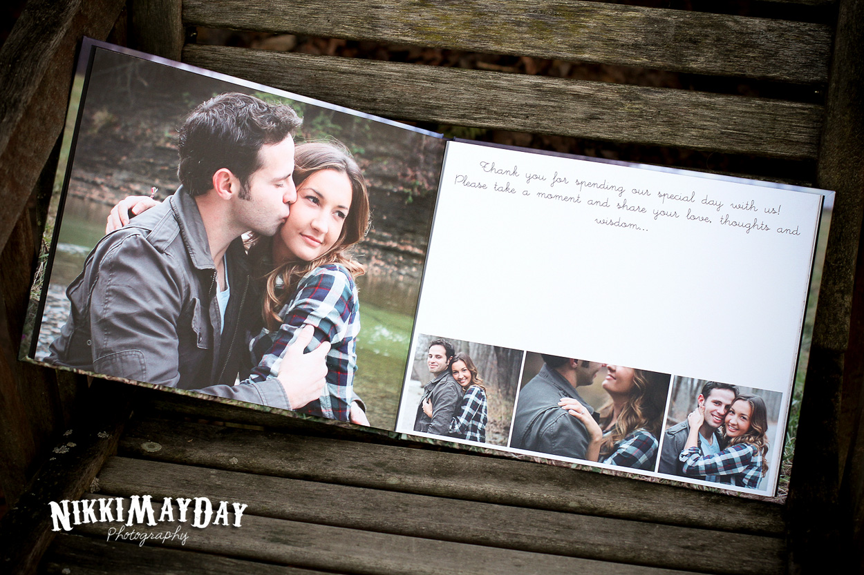 My guest book sample album arrived yay erie pa for Photo wedding guest book